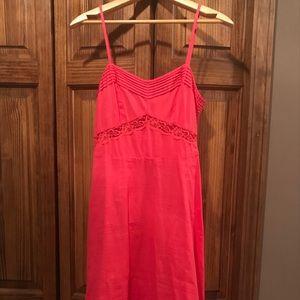 🍭J. Crew Pink Coral Cotton Dress